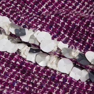 CHANEL Tweed Pearls Jacket Coat size 40/4 CHIC!